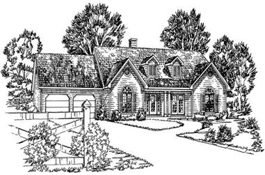 3-Bedroom, 1476 Sq Ft Country House Plan - 164-1219 - Front Exterior