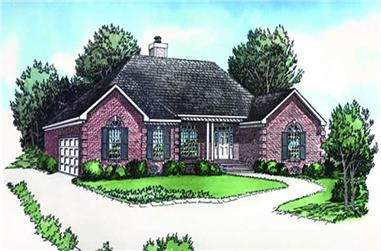 2-Bedroom, 1140 Sq Ft Georgian Home Plan - 164-1223 - Main Exterior
