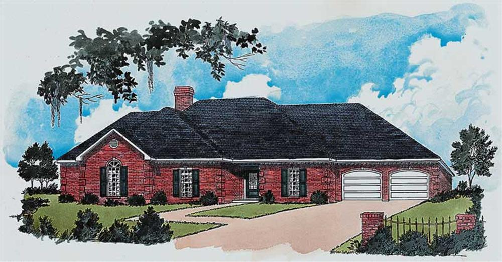 Traditional houseplans front elevation.