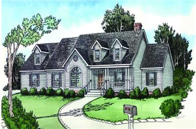 3-Bedroom, 1676 Sq Ft Cape Cod Home Plan - 164-1232 - Main Exterior