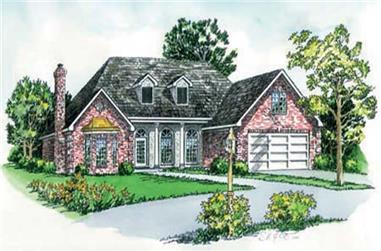 3-Bedroom, 1685 Sq Ft Cape Cod House Plan - 164-1234 - Front Exterior