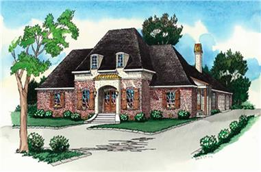 Luxury Home Plans Front Elevation