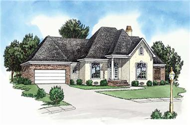 3-Bedroom, 1618 Sq Ft European Home Plan - 164-1249 - Main Exterior