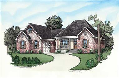 3-Bedroom, 1766 Sq Ft European Home Plan - 164-1251 - Main Exterior