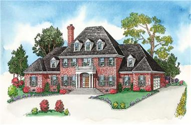 4-Bedroom, 3244 Sq Ft European Home Plan - 164-1252 - Main Exterior