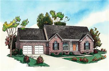2-Bedroom, 1042 Sq Ft Ranch Home Plan - 164-1255 - Main Exterior
