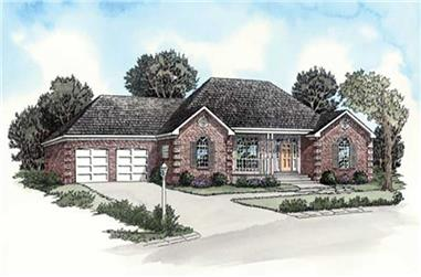 2-Bedroom, 1042 Sq Ft Small House Plans - 164-1258 - Main Exterior