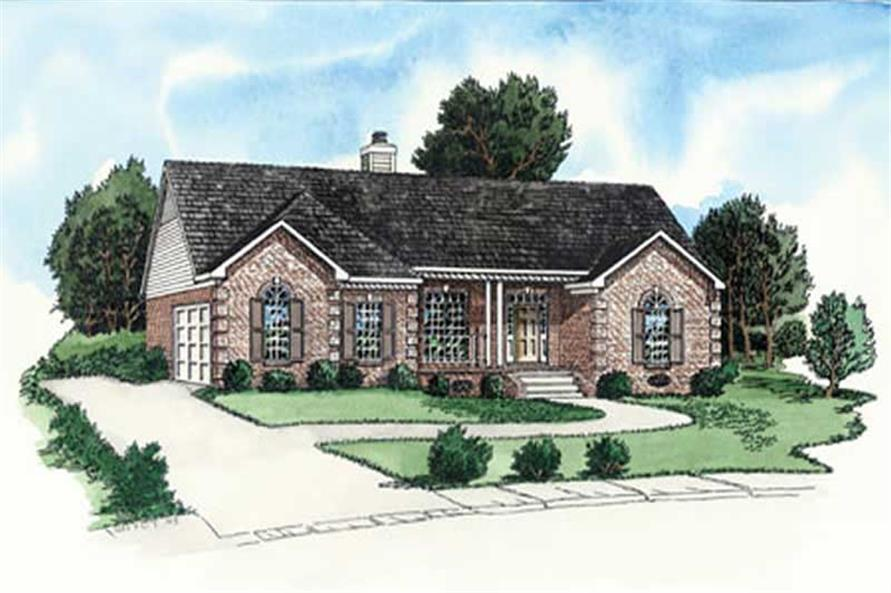 3-Bedroom, 1141 Sq Ft Country Home Plan - 164-1259 - Main Exterior