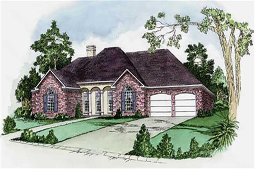 3-Bedroom, 1770 Sq Ft European Home Plan - 164-1261 - Main Exterior