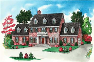 4-Bedroom, 3192 Sq Ft Colonial Home Plan - 164-1262 - Main Exterior