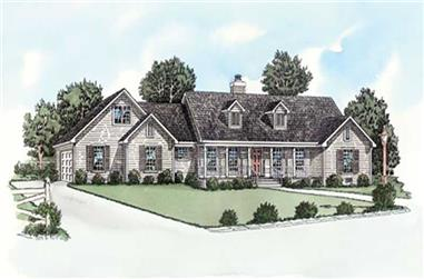 3-Bedroom, 1501 Sq Ft Country Home Plan - 164-1263 - Main Exterior