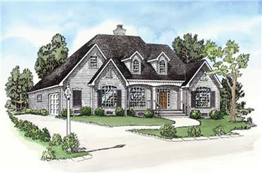 3-Bedroom, 1837 Sq Ft Cape Cod House Plan - 164-1265 - Front Exterior