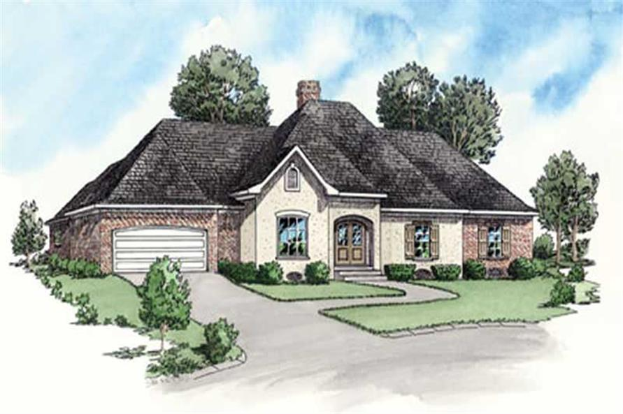 4-Bedroom, 1872 Sq Ft Country House Plan - 164-1266 - Front Exterior