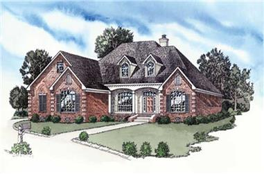 3-Bedroom, 1906 Sq Ft European House Plan - 164-1269 - Front Exterior