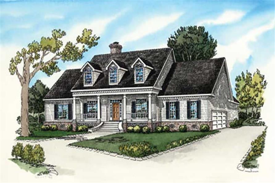 4-Bedroom, 2680 Sq Ft Country House Plan - 164-1271 - Front Exterior