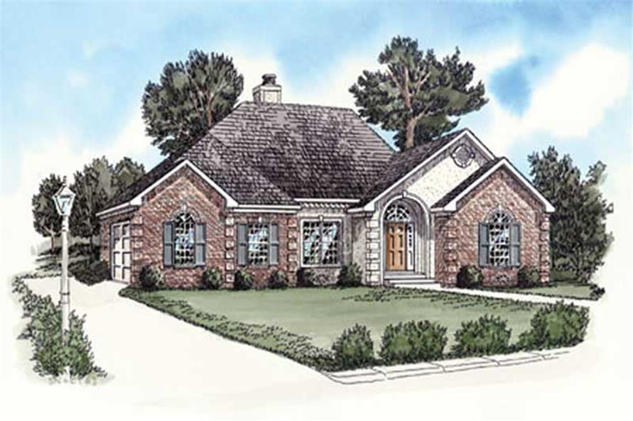 Main elevation image for house plan # 9162