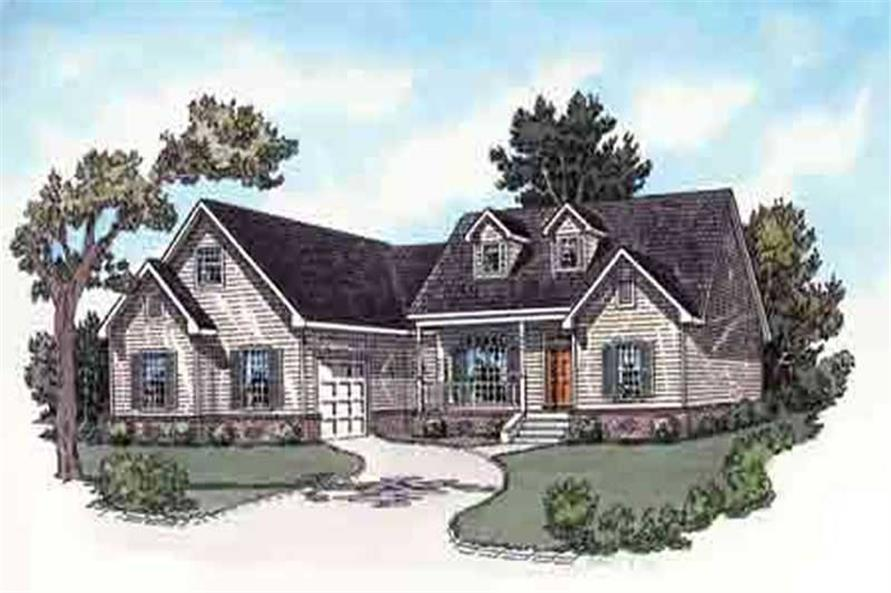 3-Bedroom, 1696 Sq Ft Country Home Plan - 164-1273 - Main Exterior