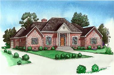 4-Bedroom, 2733 Sq Ft Country Home Plan - 164-1275 - Main Exterior
