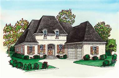 5-Bedroom, 3520 Sq Ft French Home Plan - 164-1276 - Main Exterior
