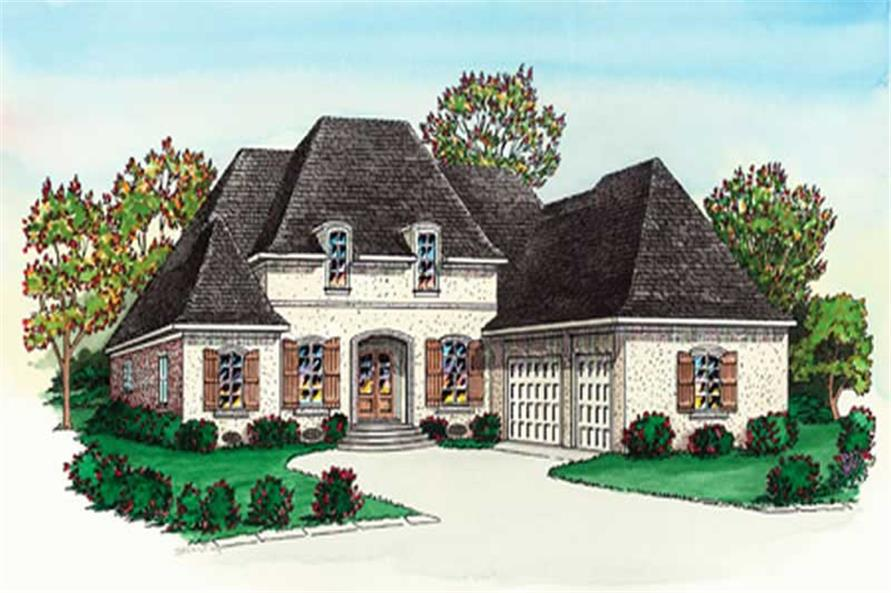 Color Rendering for French Houseplans.