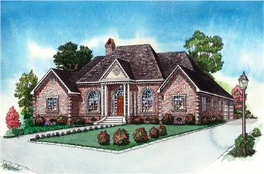 4-Bedroom, 2387 Sq Ft European House Plan - 164-1277 - Front Exterior