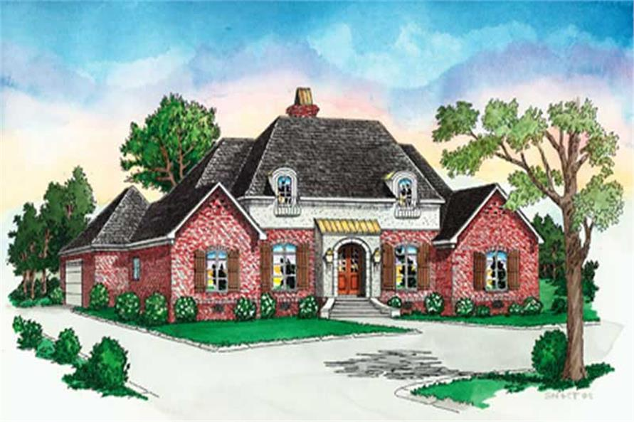 4-Bedroom, 2726 Sq Ft European Home Plan - 164-1279 - Main Exterior