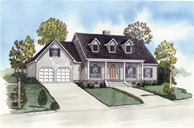 4-Bedroom, 1872 Sq Ft Country Home Plan - 164-1281 - Main Exterior