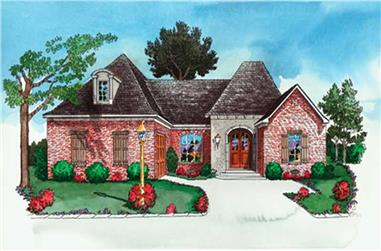 3-Bedroom, 2317 Sq Ft Country House Plan - 164-1283 - Front Exterior