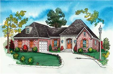3-Bedroom, 2320 Sq Ft Country House Plan - 164-1284 - Front Exterior