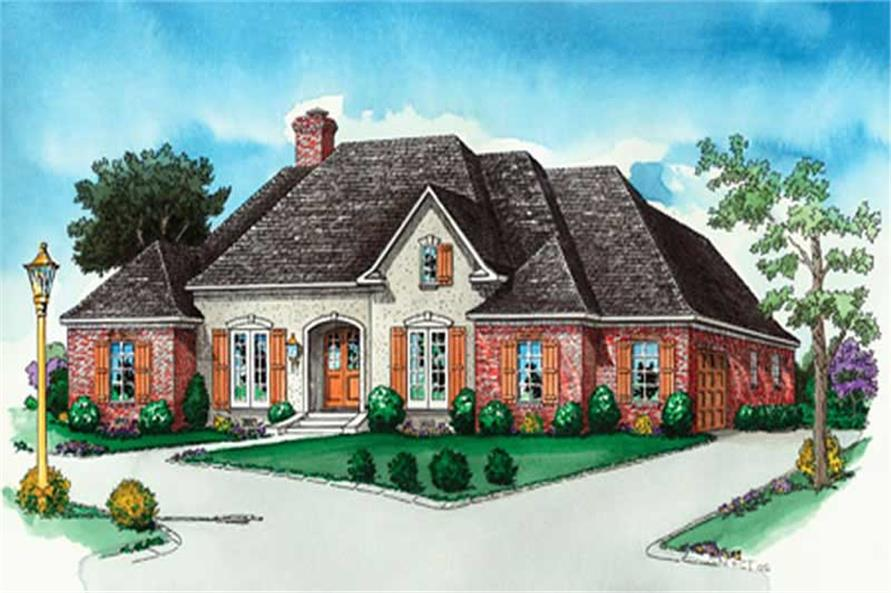 4-Bedroom, 2377 Sq Ft European House Plan - 164-1287 - Front Exterior