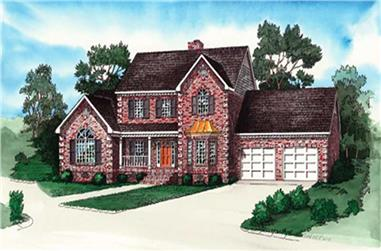 2-Bedroom, 2226 Sq Ft Country House Plan - 164-1289 - Front Exterior