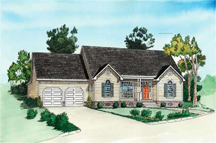 2-Bedroom, 987 Sq Ft Small House Plans - 164-1291 - Main Exterior