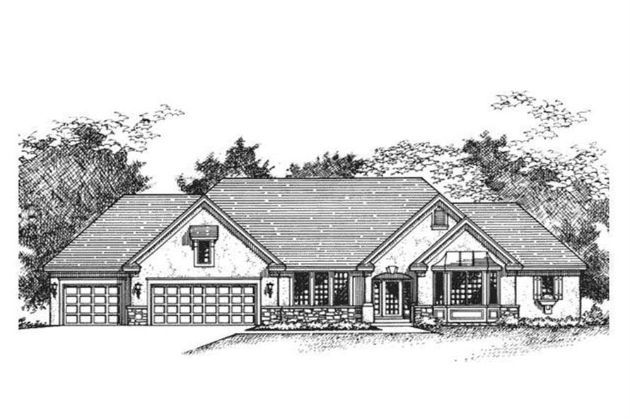 3-Bedroom, 3553 Sq Ft European Home Plan - 165-1000 - Main Exterior