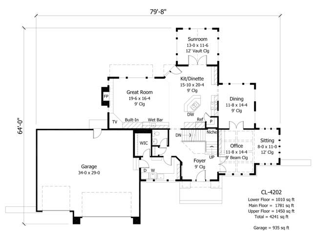House plans home design cls 4202 for Collection master cls