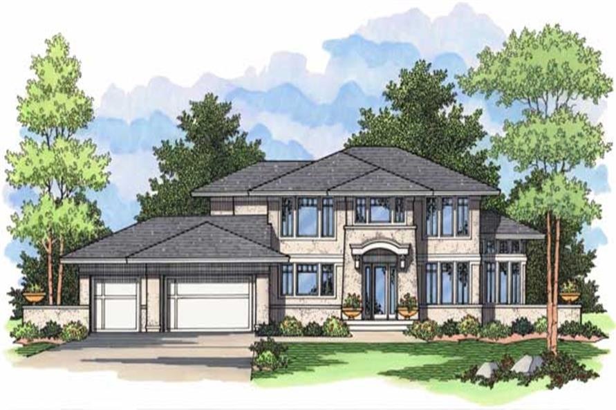 4-Bedroom, 3190 Sq Ft European Home Plan - 165-1001 - Main Exterior