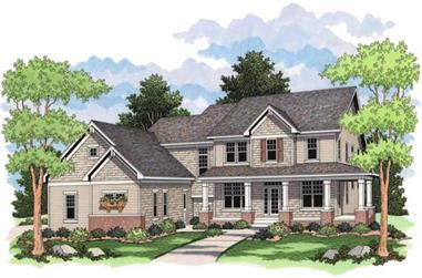 Front elevation of Country Houseplans CLS-2707.