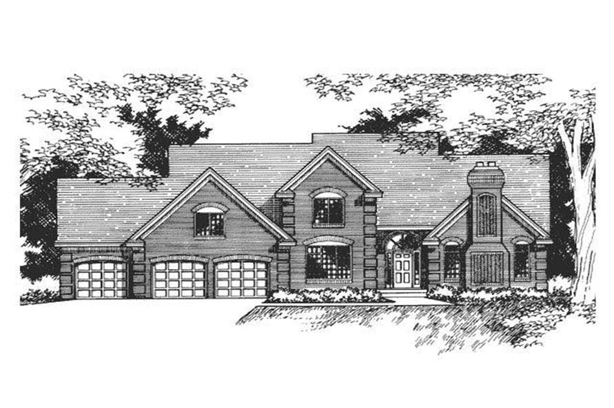 Front Elevation image of Country Home Plans CLS-2806.