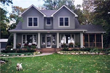 3-Bedroom, 3202 Sq Ft Country House Plan - 165-1007 - Front Exterior