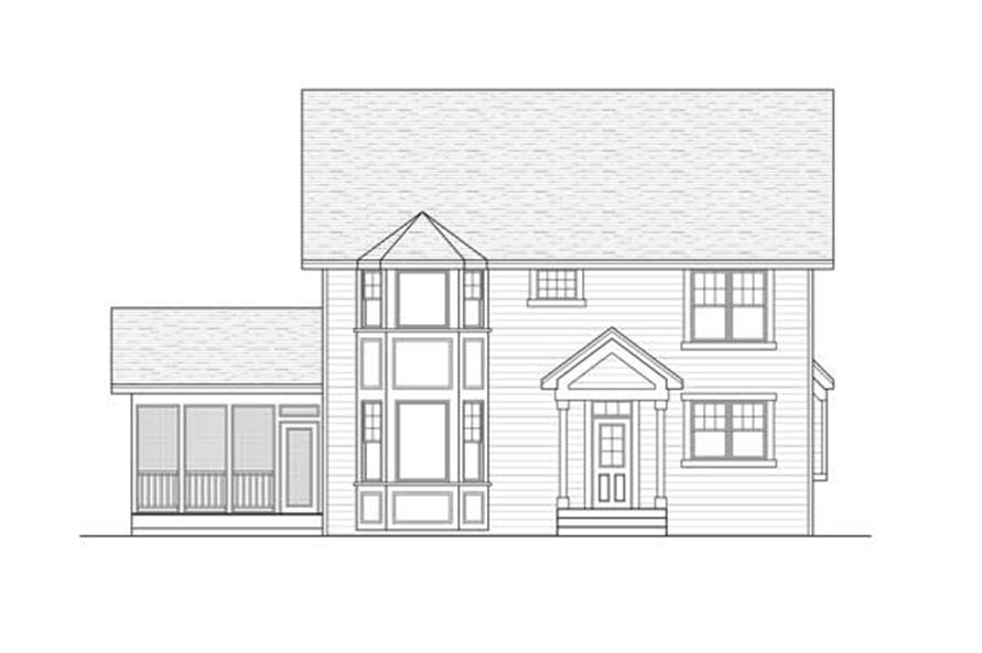 Home Plan Rear Elevation of this 3-Bedroom,3202 Sq Ft Plan -165-1007