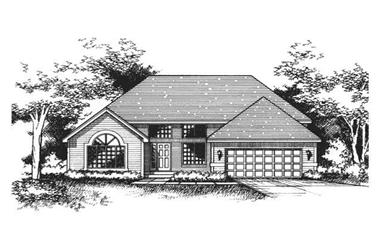 4-Bedroom, 2297 Sq Ft Country House Plan - 165-1009 - Front Exterior