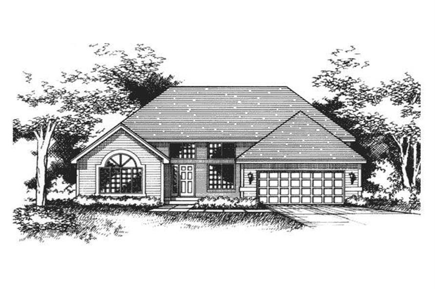 Front Elevation for Ranch Houseplans CLS-2409.