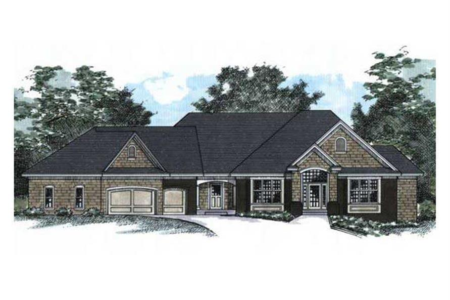 Front Elevation Rendering of European Home Plans CLS-4901.