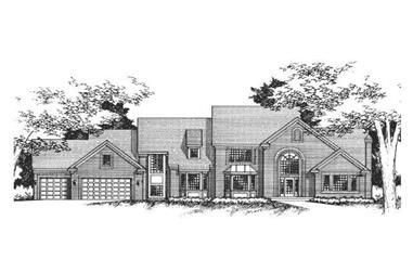 4-Bedroom, 5090 Sq Ft Cape Cod Home Plan - 165-1013 - Main Exterior