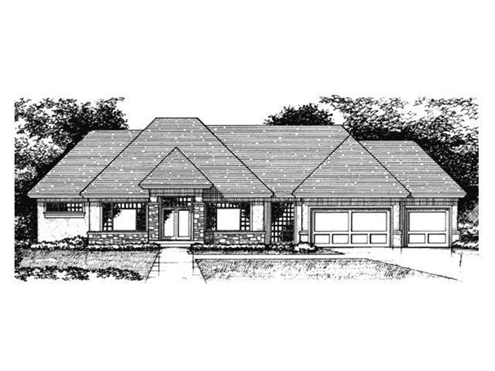 Front Elevation of Ranch House Plans CLS-4500.