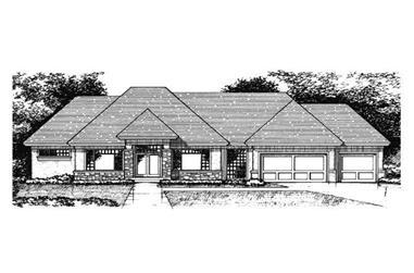 4-Bedroom, 4852 Sq Ft European Home Plan - 165-1015 - Main Exterior