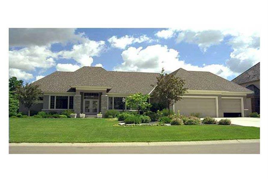 Home Exterior Photograph of this 4-Bedroom,4852 Sq Ft Plan -4852