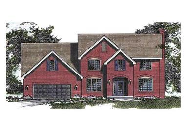 3-Bedroom, 2540 Sq Ft Country House Plan - 165-1017 - Front Exterior