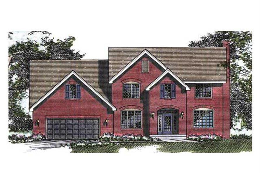 Colored Rendering of Country Houseplans CLS-2502.