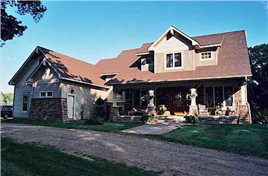 4-Bedroom, 3353 Sq Ft Country Home - Plan #165-1020 - Main Exterior