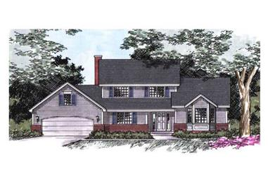 3-Bedroom, 2102 Sq Ft Cape Cod House Plan - 165-1022 - Front Exterior